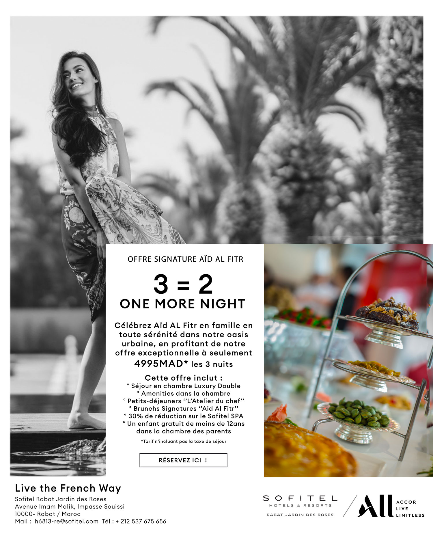 One More Night au Sofitel Rabat Jardin des Roses Offre Signature pour Aid Al Fitr
