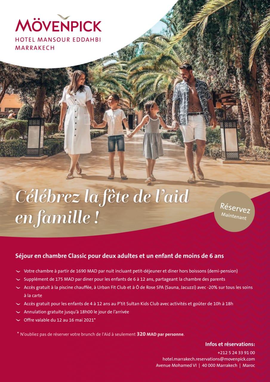 Célèbrez Aid en famille au Mövempick  Hotel Mansour Dahbi Marrakech