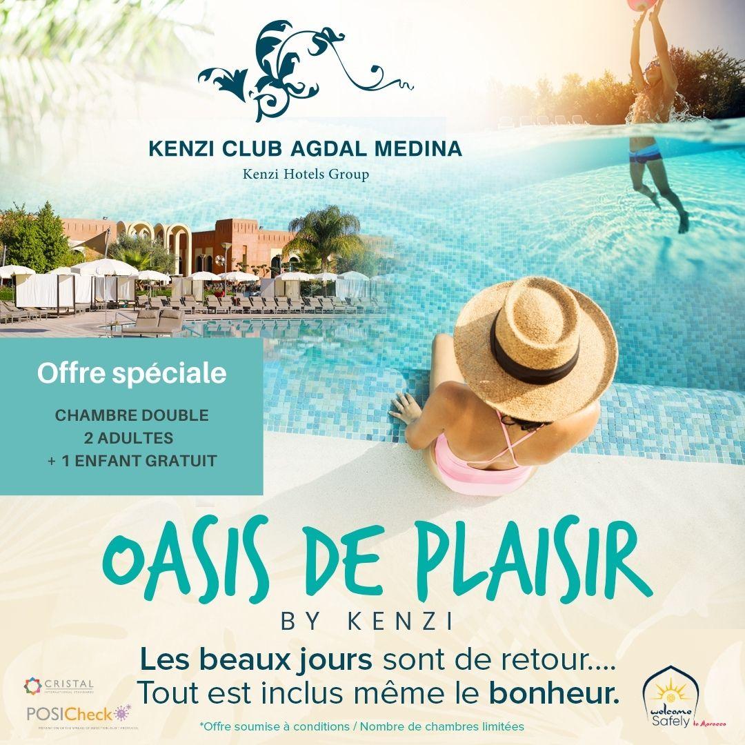 Les beaux jours sont de retour Tout est inclus même le bonheur  au kenzi Club Agdal Medina